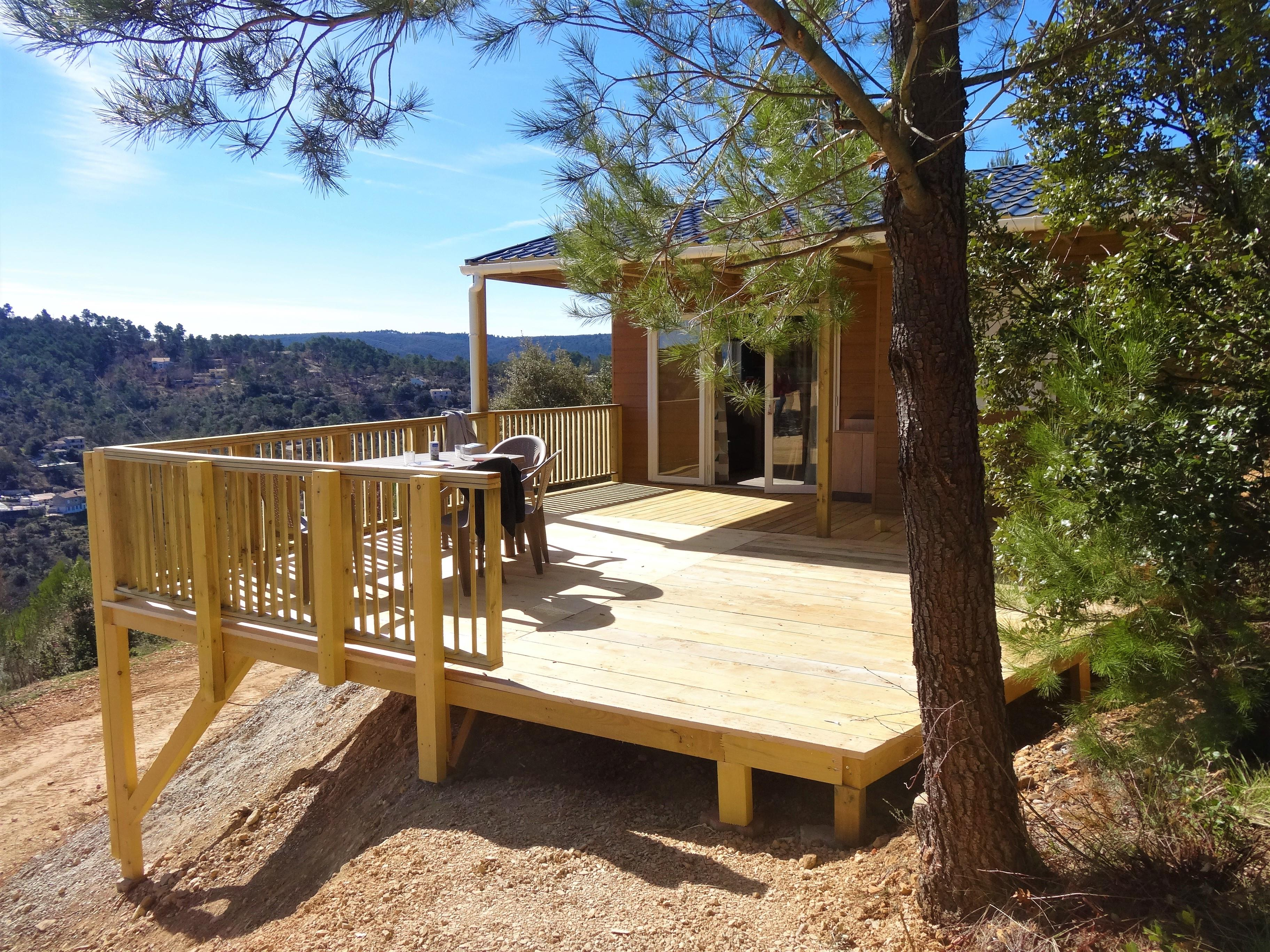 Alojamientos - Chalet 27M² - 2 Rooms - View On The Valley - Camping naturiste Verdon Provence