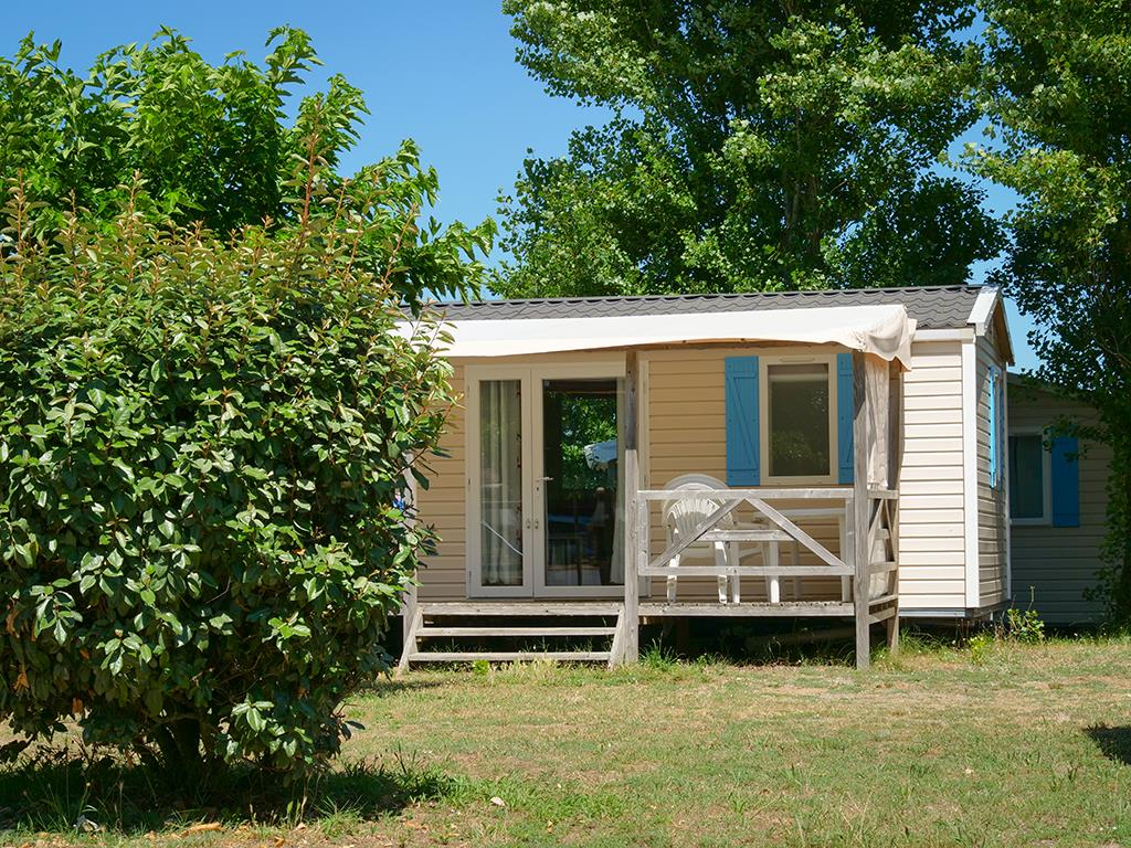 Locatifs - Mobil-Home Confort+ 27M² (2 Chambres) + Terrasse Semi-Couverte 18M² - Camping Les Paludiers
