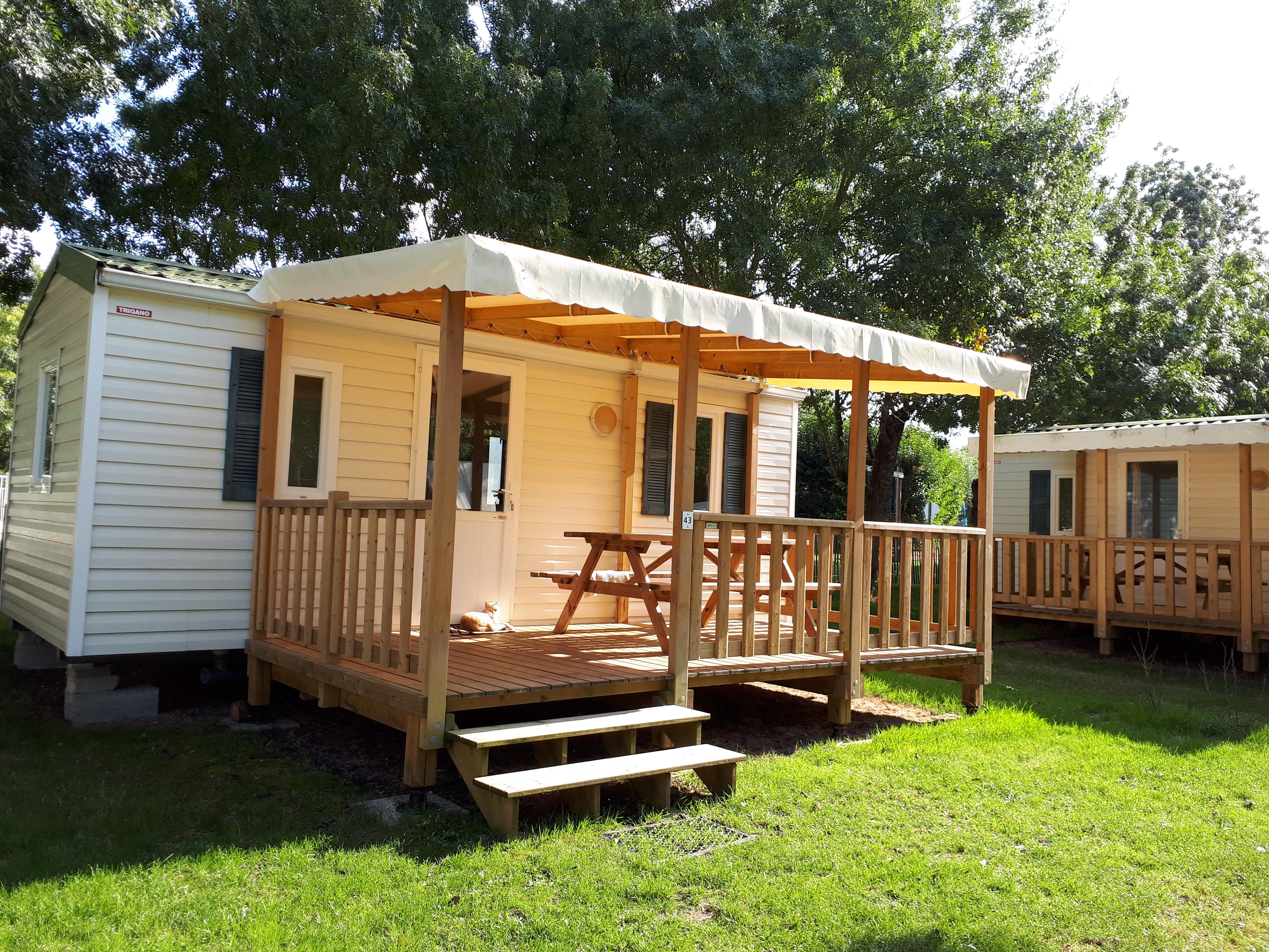 Location - Mobilhome 18 M² (2 Chambres) + Terrasse Couverte - Camping Le Lidon