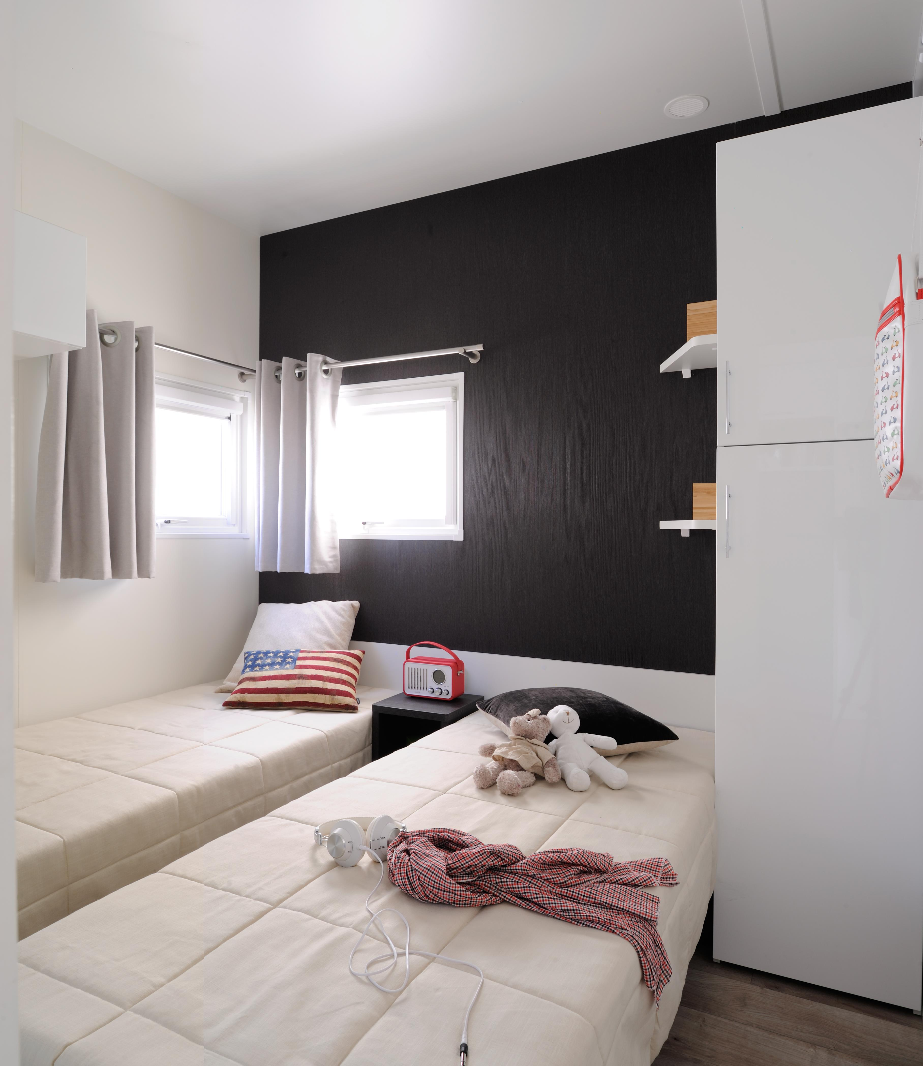 mobil home sunelia luxe taos 38m 3 zimmer tv. Black Bedroom Furniture Sets. Home Design Ideas