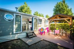 Accommodation - Mobil Home Tiki Hut Prestige 33M² 3 Rooms - Camping Californie Plage