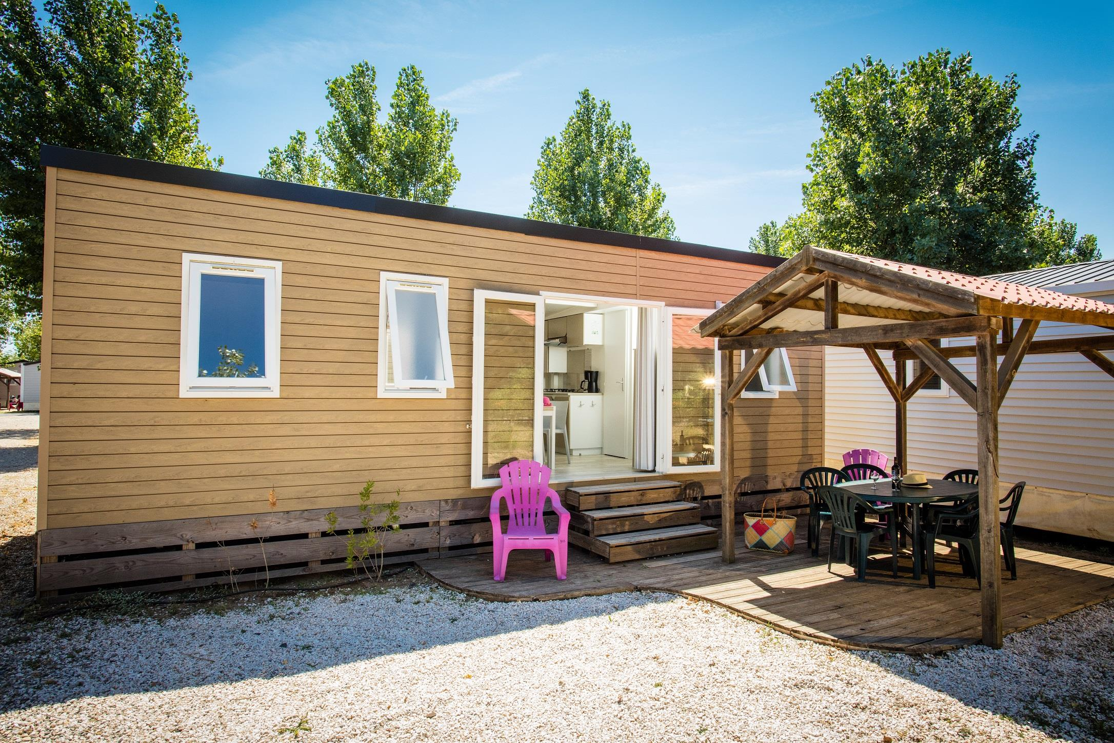 Location - Mobilhome Moorea Supérieur 30.5M² 3 Chambres - Camping Club Californie Plage