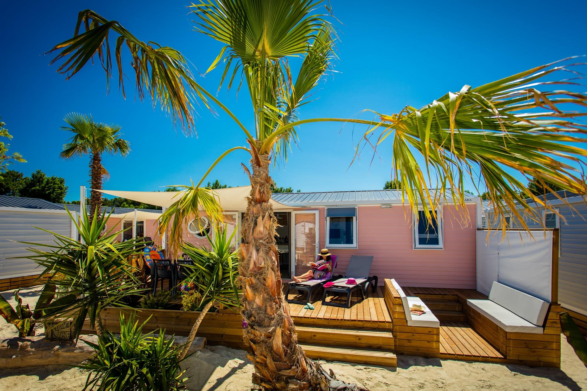Location - Cottage Caïcos Premium 33 M², 3 Chambres - Camping Californie Plage