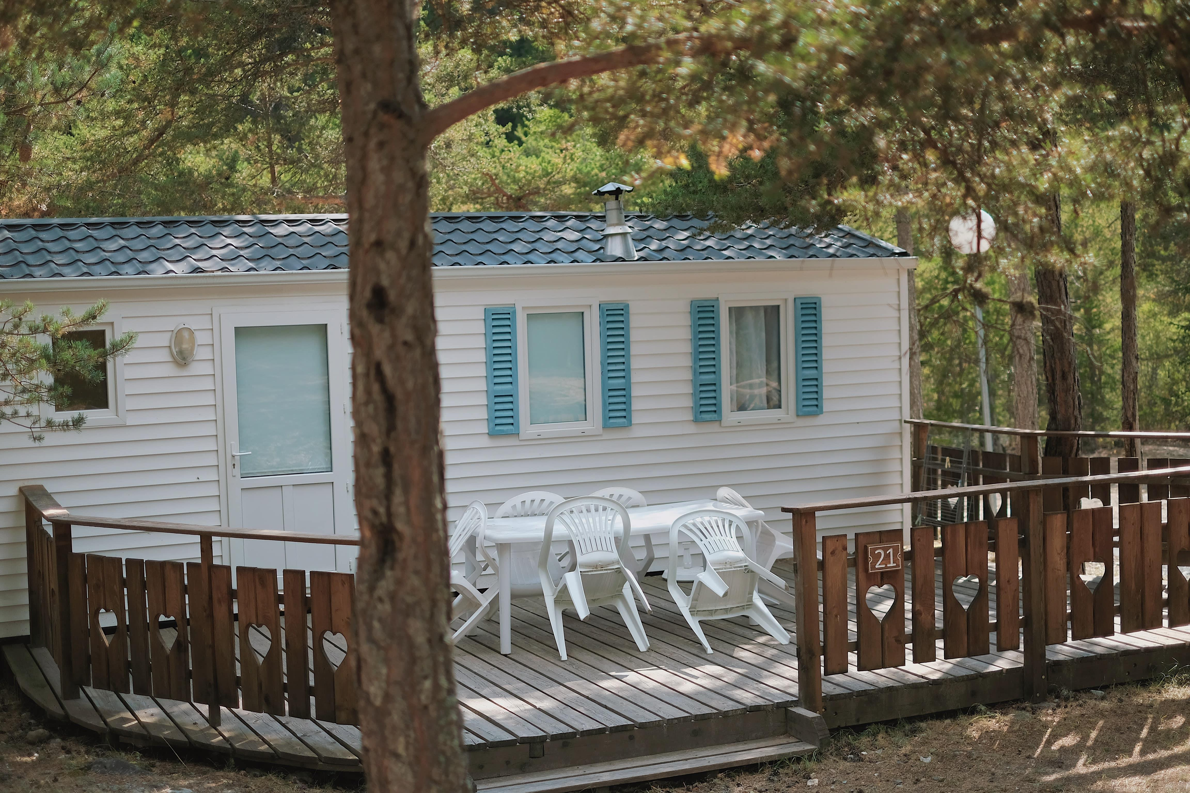 Location - Mobilhome Confort 3 Chambres - Camping Rioclar