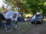 Pitch - Pitch Nature : vehicle + tent , caravan or camping-car - Camping les PEUPLIERS