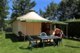 Rental - Canvas Bungalow Eco 25 M² (2 Bedrooms) Without Toilet Blocks - Flower Camping Les Nobis d'Anjou