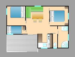 Chalet (8-12 yrs old, 32m²)