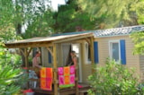 Rental - Mobil-home TAHITI 21m² + bathroom + 10 m² wooden terrace with shelter - maximum 4 adults - Camping Sites et Paysages LE MAS DU PADRE