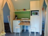 Rental - Coco Sweet CONFORT + 16m² - 2 bedrooms (without toilet blocks) - Tarn view - Flower Camping Le Pont du Tarn