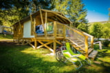 Rental - Lodge Sweetflower Premium Cabin On Piles 32 M² (With Private Facilities) - Flower Camping Le Pont du Tarn