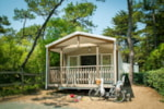 Rental - Mobile-home 2 bedrooms  LUDISIA  CONFORT+ (2012) 24 m²  + Half-covered terrace - Flower Camping Les Cyprès