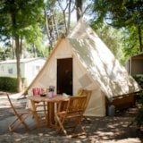 Rental - Tent  2 bedrooms CHEYENNE CONFORT (2014) 17m² - Camping Les Cyprès
