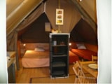 Rental - tent   2 bedrooms AMAZONE CONFORT (2014) 20m² - Camping Les Cyprès