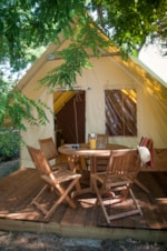 Rental - tent   2 bedrooms AMAZONE CONFORT (2014) 20m² - Flower Camping Les Cyprès