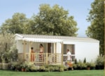 Rental - Mobile-home 2 bedrooms CORDOVA Comfort ECO (2002) 30m² + sheltered terrace - Flower Camping Les Cyprès