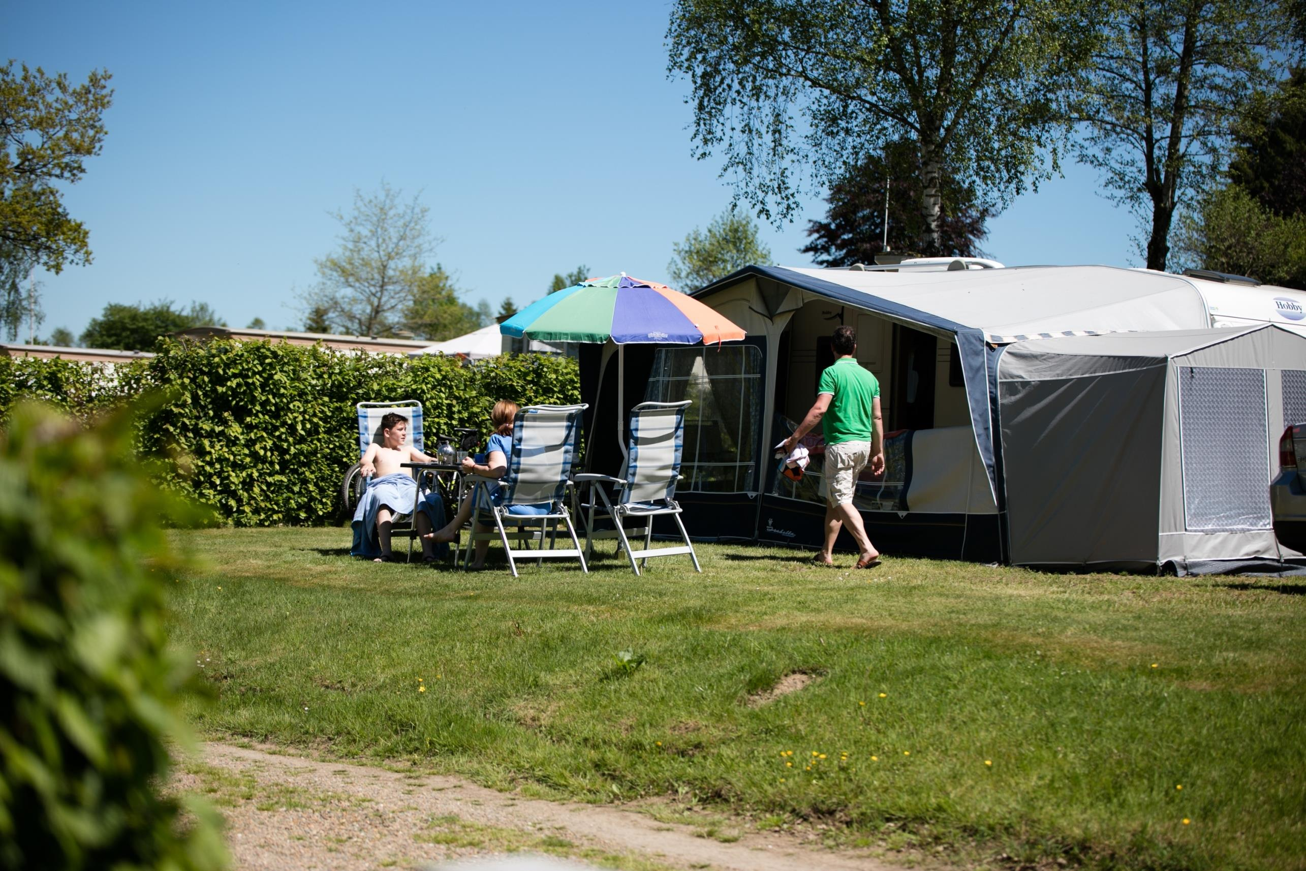 Luxury camping plot 150 m² (incl. 2 pers.)