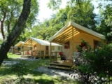 Rental - Ecolodge - covered terrace (2 bedrooms) - Camping Saint Disdille