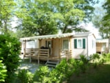 Rental - Mobile Home LEMAN (4-8y.old) 29m²  - covered terrace 12m² (2 bedrooms) - Camping Saint Disdille