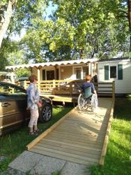 Mobile Home PRM for disabled person (-3 y.old) 35m²  - covered terrace 15m² (2 bedrooms)