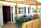 Rental - Mobil Home SPACE with wooden covered terrace. - Camping Oasi