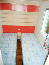 Mobilhome Supervenus Air conditioning option 25m² with private facilities and covered terrace of 10m²