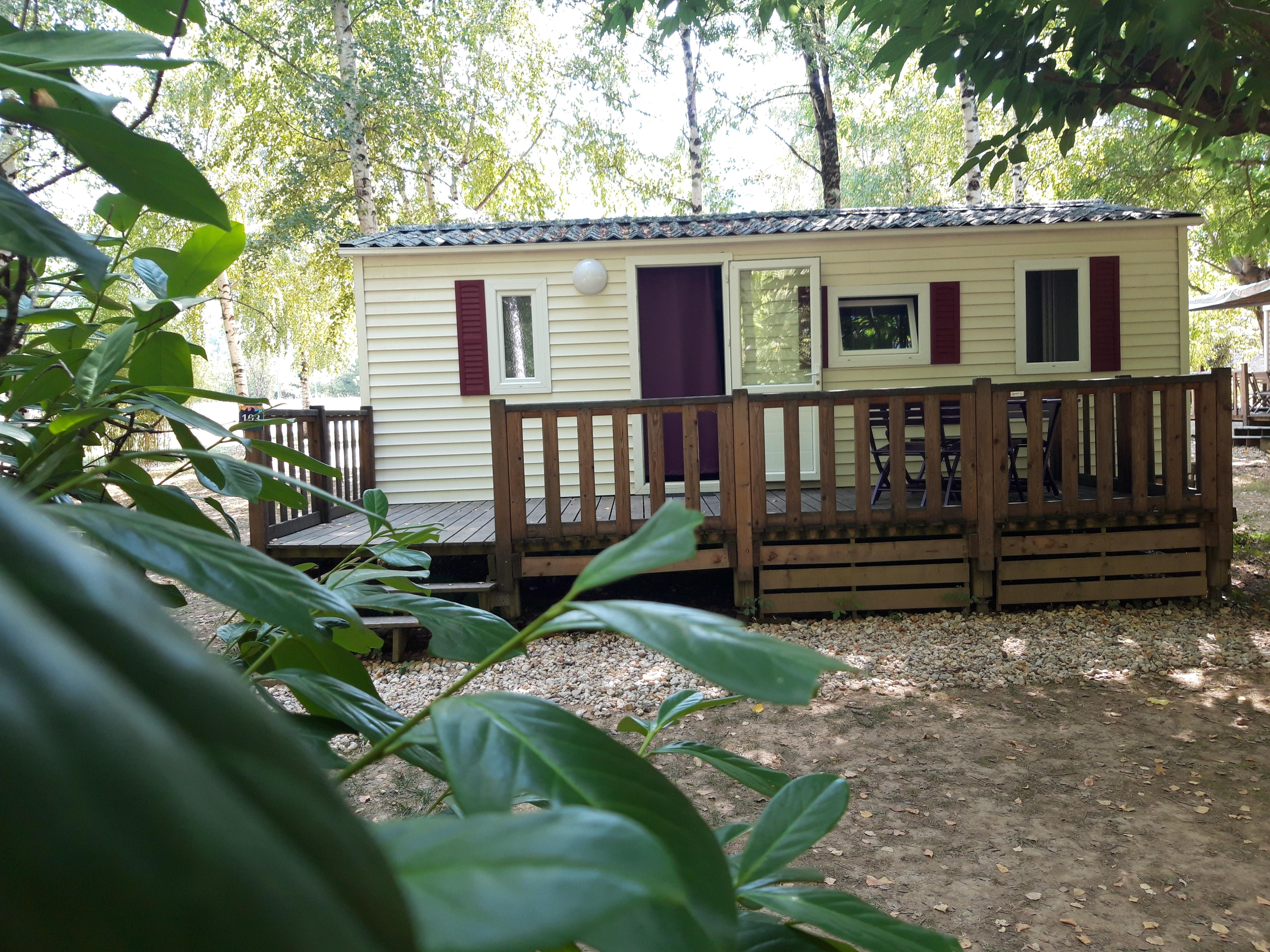Location - Mobilhome Eco (2 Chambres) Grande Terrasse - Flower Camping Les Gorges de l'Aveyron