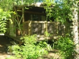 Rental - Tent Ecolodge Premium 40M² (2 Bedrooms) + Sheltered Terrace - Flower Camping des Gorges de l'Aveyron