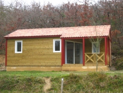 Rental - Chalet Type 1 - 36 m² - 2 bedrooms - Camping Naturiste Le Couderc