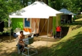Rental - Furnished tent Bengali (without private facilities) - Camping Hélio Nature L'Eglantière