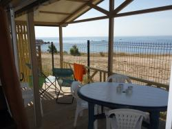 Huuraccommodatie - Chalet Facing The Sea ~31M² - 3 Kamers + Airconditioning - Camping Les Mouettes