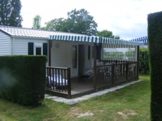 Mobilhome Grand Large - 33 M² (3 Bedrooms) / Half-Covered Terrace