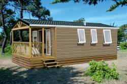Mobil-Home HIBISCUS Confort + 32m² (2 chambres) - Terrasse integré couverte 8m² - TV incluse