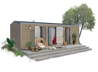 Mobile home ORANGER PREMIUM (2 bedrooms) - sheltered terrace 16m² - 2 bathrooms + Dishwasher + TV + air-conditioning