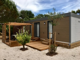 Mobile Home Oranger Premium (2 Bedrooms) -33M2-  Sheltered Terrace 16M² - 2 Bathrooms + Dishwasher + Tv + Air-Conditioning