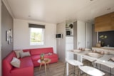 Rental - Mobile home LAURIER ROSE PREMIUM (3 bedrooms) - sheltered terrace 16m² - 1bathrooms + Dishwasher + TV + air-conditioning - Flower Camping Le Mas de Mourgues