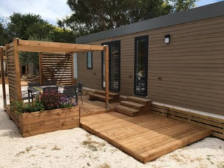 Mobile Home Laurier Rose Premium (3 Bedrooms) - 33M2- Sheltered Terrace 16M² - 1Bathrooms + Dishwasher + Tv + Air-Conditioning