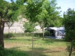 Pitch - Privilege Package (1 tent, caravan or motorhome / 1 car / electricity 10A) - by river side - Flower Camping Le Riviera