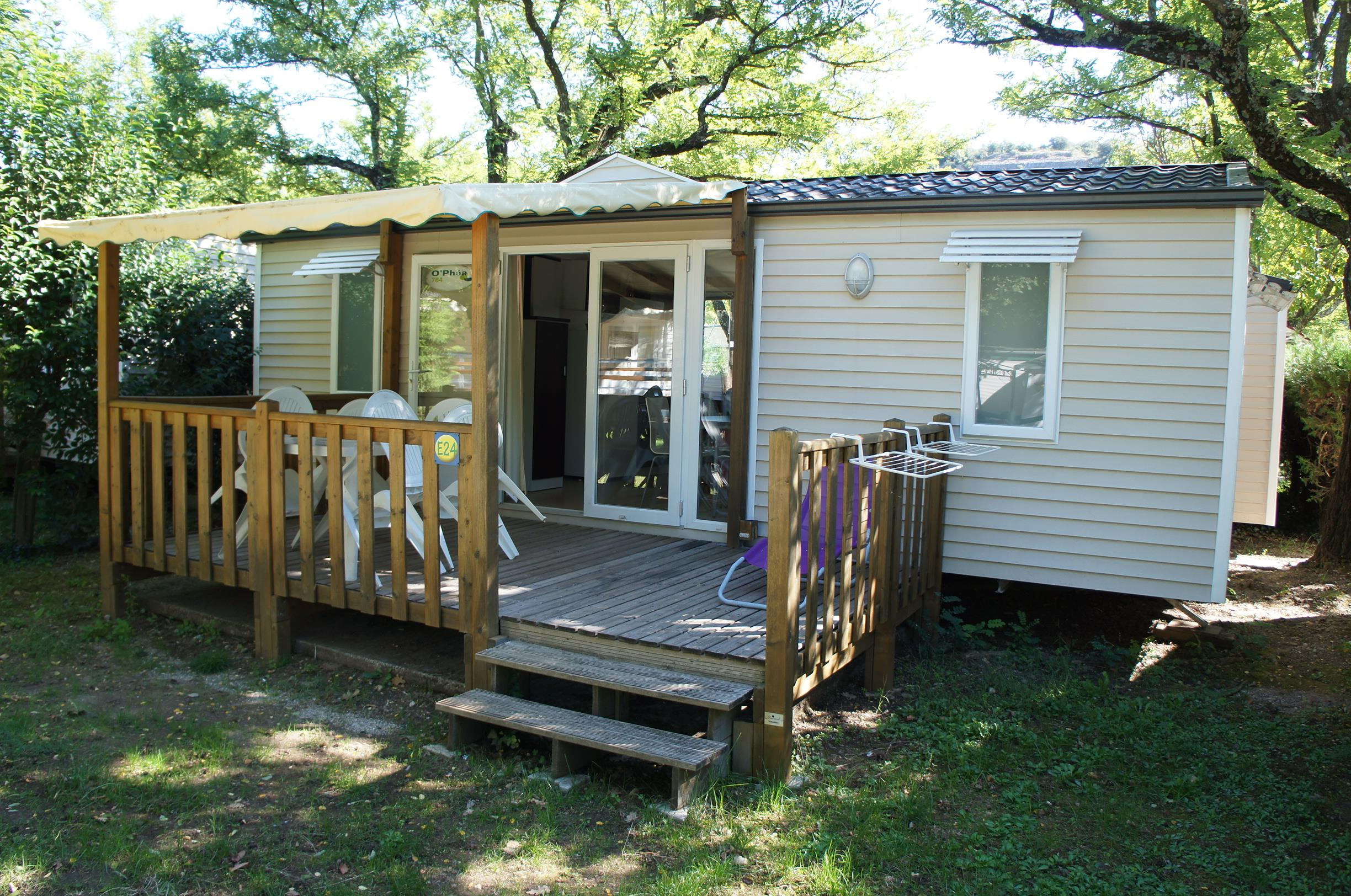Location - Mobil Home 32 M² (2 Chambres) + Terrasse Couverte Confort + - Flower Camping Le Riviera