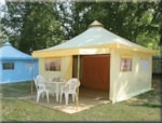 Huuraccommodaties - Huurtent Funflower Confort 20m² (2 Kamers) - Flower Camping Le Riviera