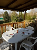 Rental - Mobilhome comfort+ 24 m² (2 bedrooms) with covered terrace - Flower CAMPING SAINT AMAND