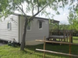 Rental - Mobile home Comfort+ 24 m² (2 bedrooms) with 10 m² covered terrace - Flower CAMPING SAINT AMAND