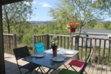 Rental - Mobilhome Premium Patio 30m² + Terrace 15m² (2 Rooms - 2 bathrooms - Air-conditioning) + TV - Flower CAMPING SAINT AMAND