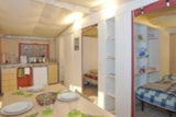 Rental - Lodgetent comfort+ 27.5m2 (2 chambres) + Toilet blocks + terrace - Flower CAMPING SAINT AMAND