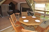 Rental - Freeflower comfort+ -  40m²  (2 bedrooms) sheltered terrace - Flower CAMPING SAINT AMAND