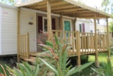 Rental - Mobile home Comfort+ 27 m² (2 bedrooms) with covered terrace - Flower CAMPING SAINT AMAND