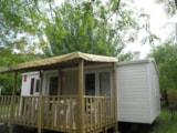 Rental - Mobile home Comfort+ 29 m² (2 bedrooms) with covered terrace - Flower CAMPING SAINT AMAND