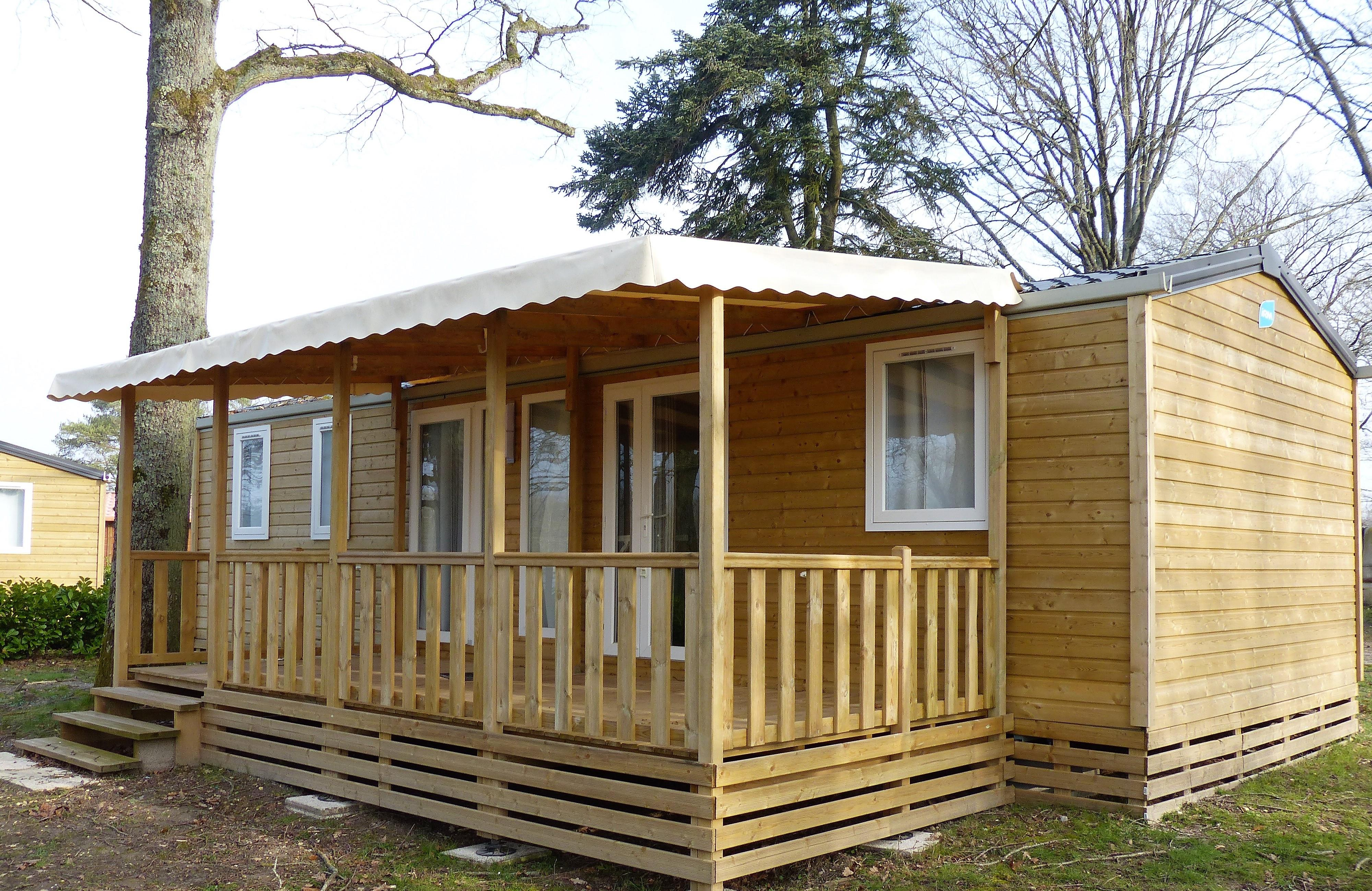 Locatifs - Mobilhome Bois 3 Chambres - 40M² Standing - Camping des Etangs