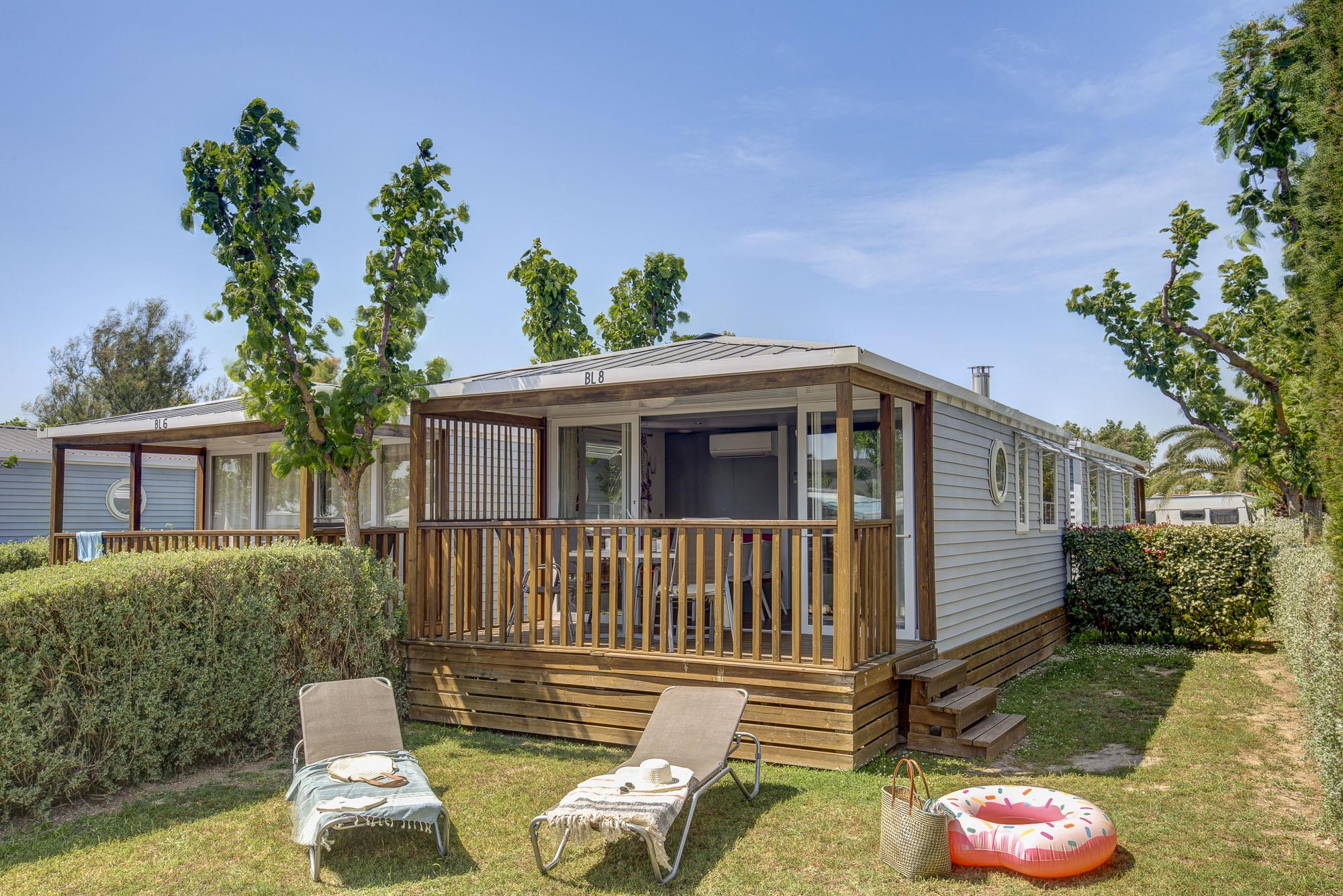 Accommodation - Mobilhome Blue - Camping L'Amfora