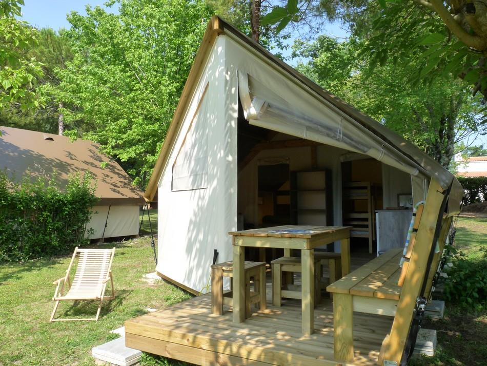 Location - Ecolodge  2 Chambres -  Sanitaire Du Camping - Camping Aloe