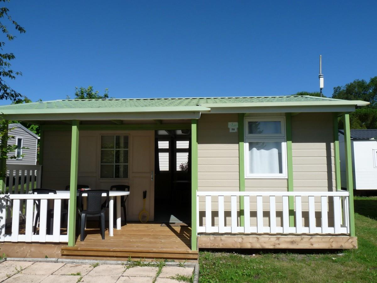 Location - Chalet Loisir 2 Chambres 24 M2 + Terrasse Couverte - Camping Aloe
